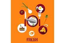 Fresh food flat design