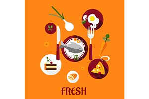 Fresh food flat design