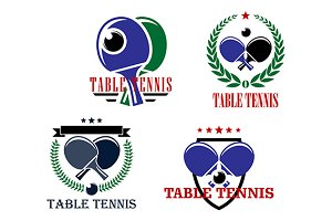 Table Tennis emblems or badges