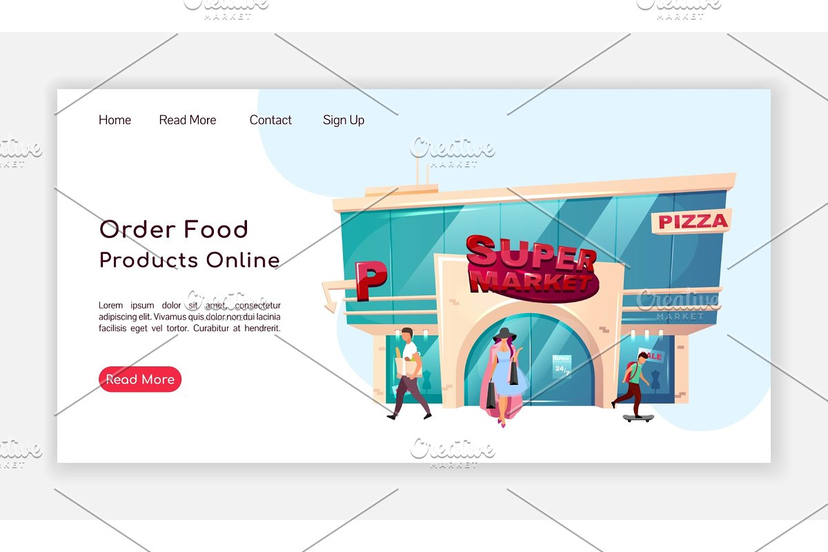 Order food products online homepage