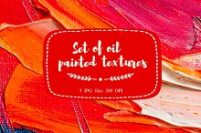 Set of oil painted textures # 1