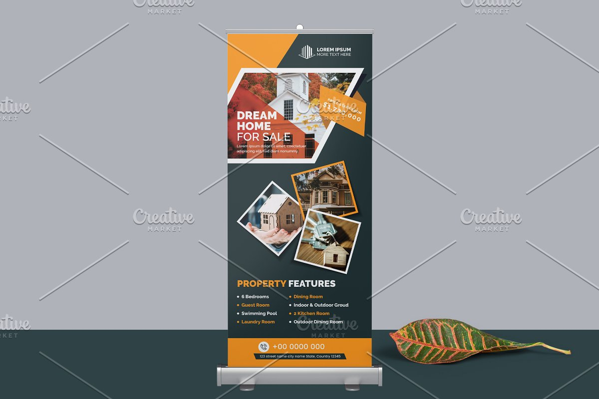 Real Estate Property Roll-up Banner