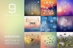9 Barcelona infographics