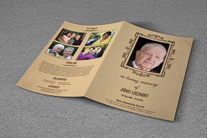 Funeral Program Template-T278