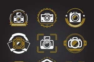 Vector photographers logos or icons