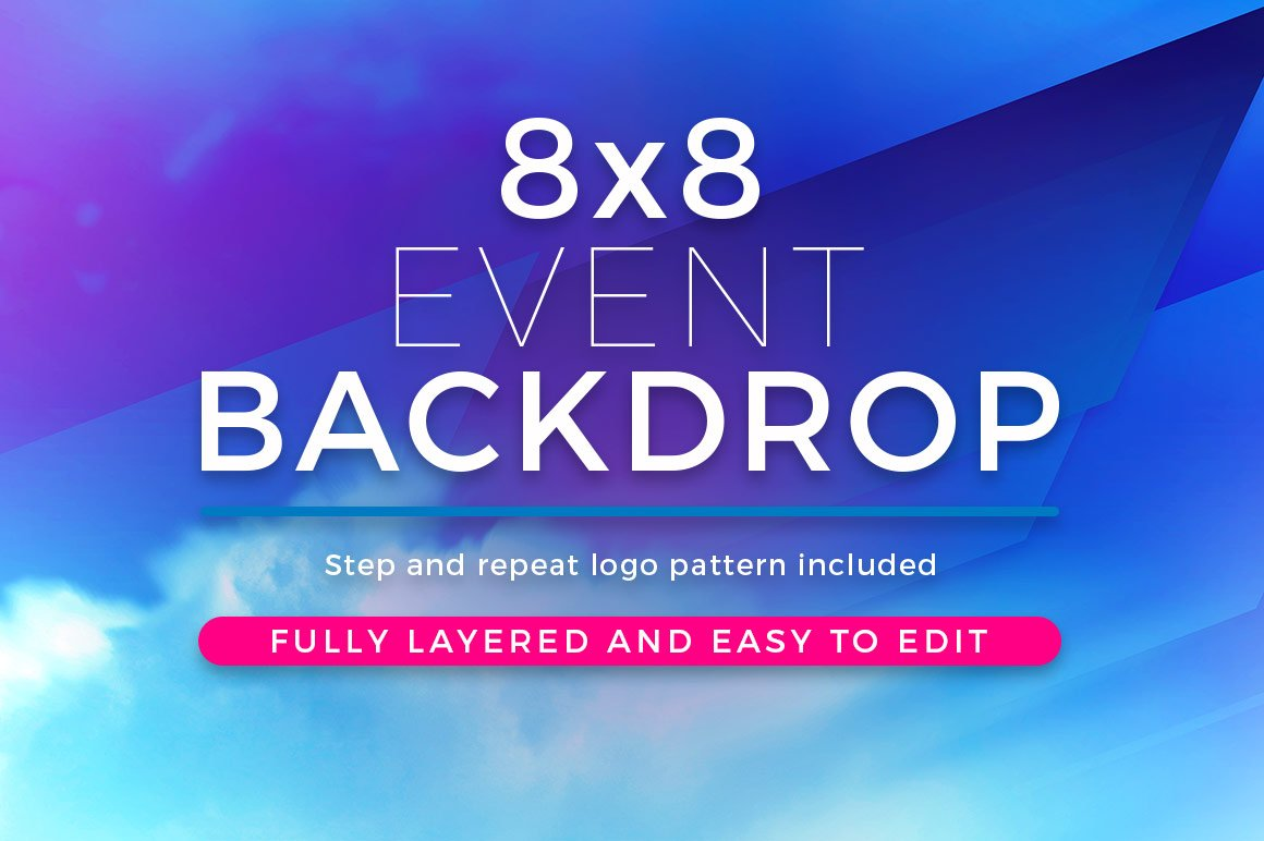abstract 8x8 event backdrop template templates creative market
