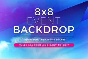 Abstract 8x8 Event Backdrop Template