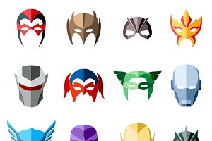 Vector super hero masks