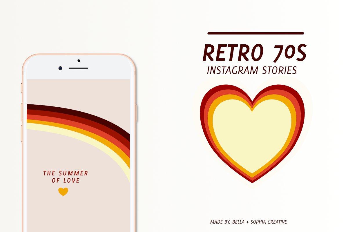 Retro 70s Instastories Template
