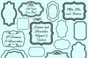 Frames & Flourish Vectors & Clipart