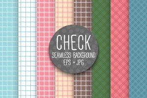 Checkered vintage tile patterns