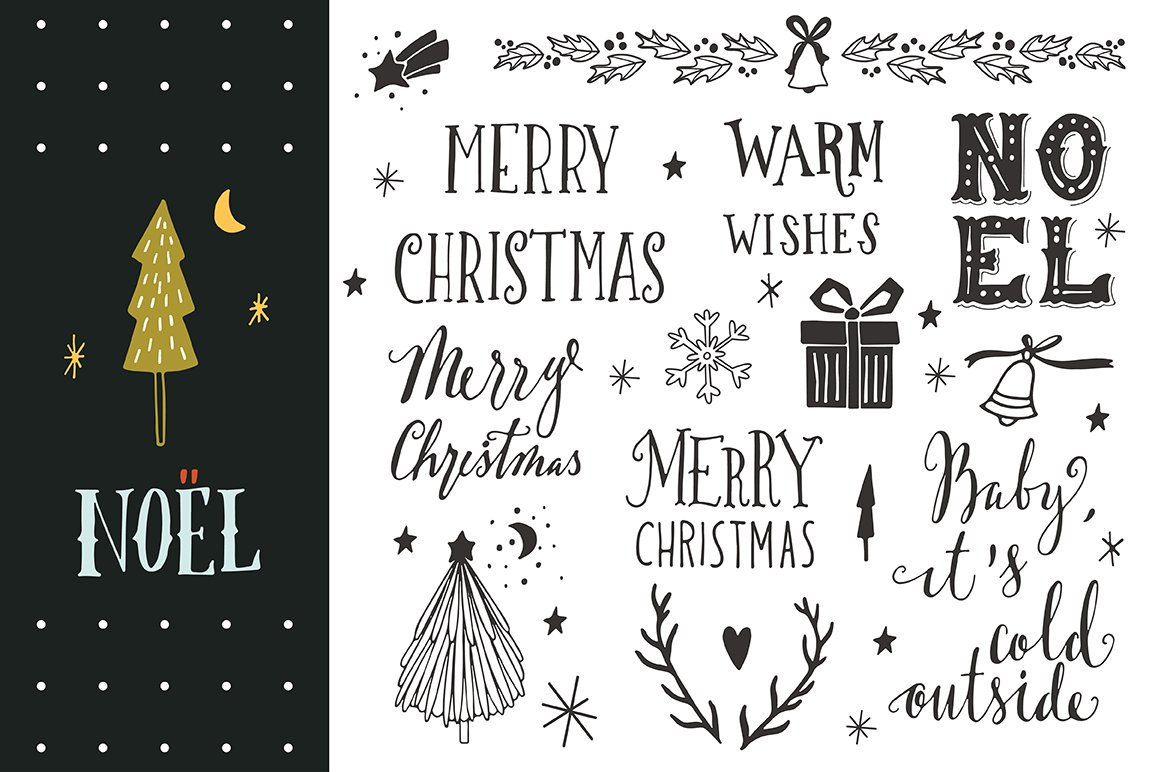 Noel | Christmas hand-lettering ~ Graphic Objects ~ Creative Market