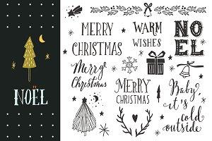 Noel | Christmas hand-lettering