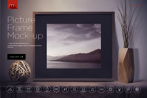 6 Modern Picture Frames Mock-up