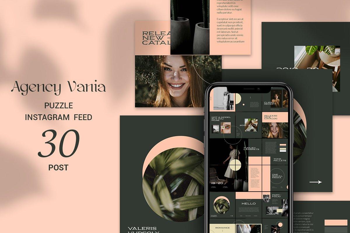 Agency Vania Puzzle Instagram Feed