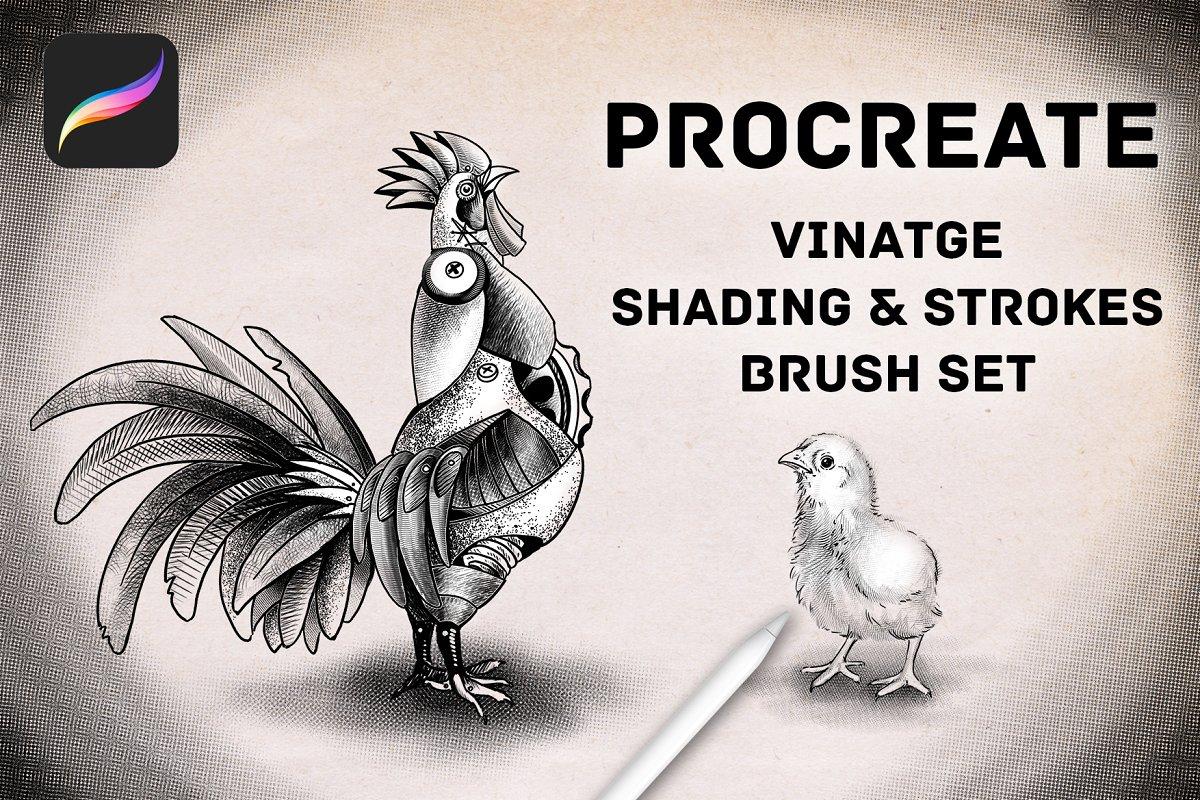 Procreate Vintage Shading Brushes