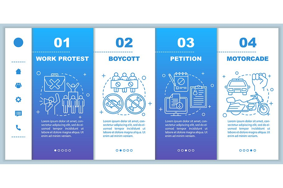 Social protest mobile web pages