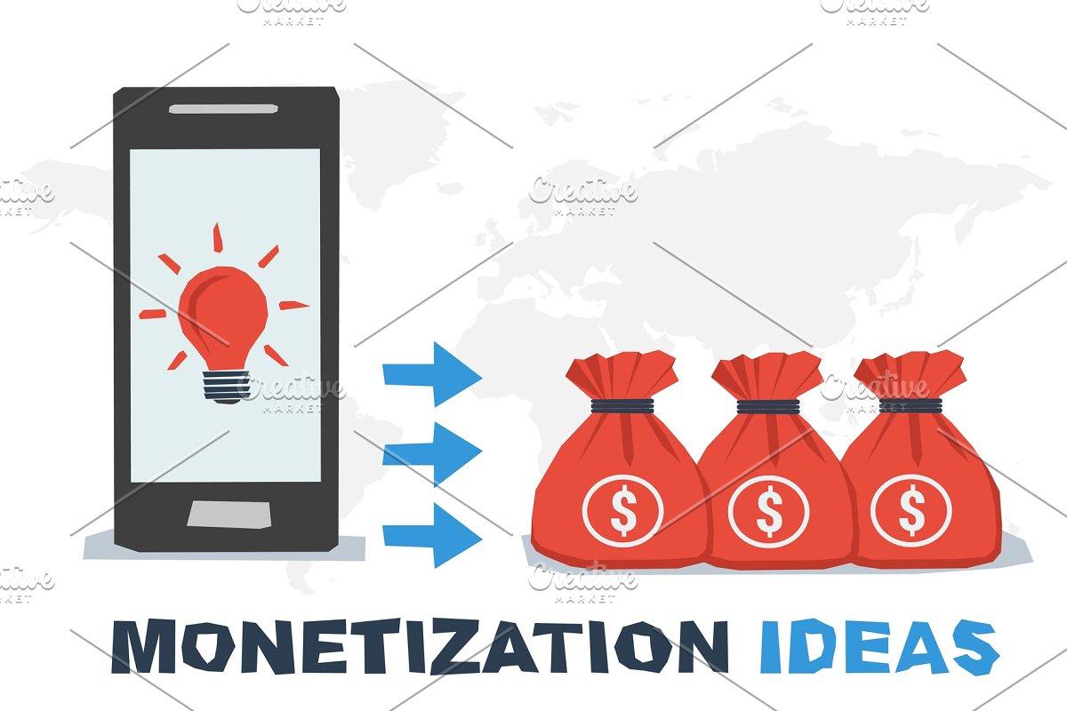 Vector concept abstract monetization