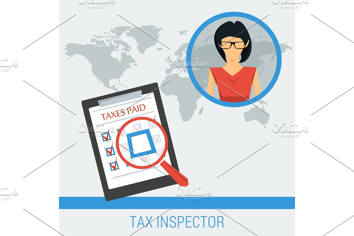 Concept work of tax inspector