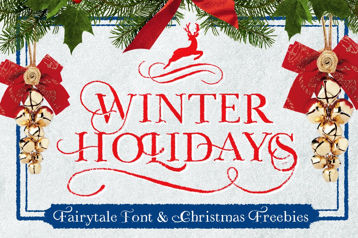 WINTER HOLIDAYS & Christmas Freebies ~ Display Fonts ...