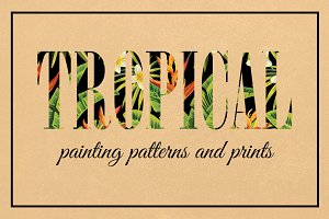 tropical painting patterns and print
