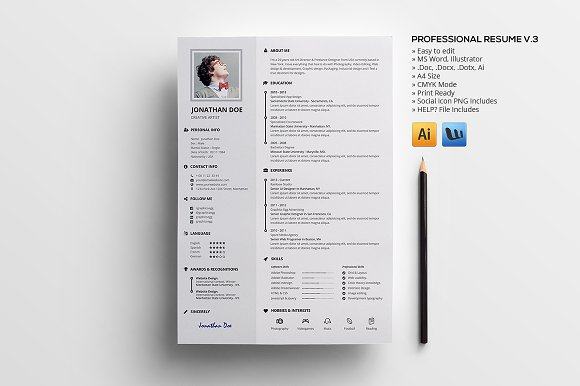 Professional Resume V.3 - Resumes
