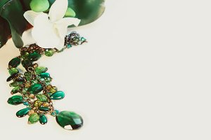 Green necklace | Stock Photography