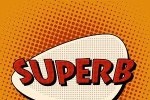 superb super excellent comic bubble
