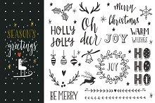 Season's greetings | Lettering set