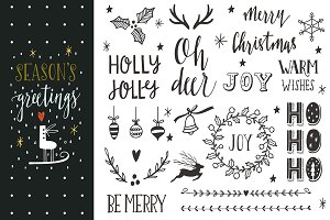 Season's greetings | Lettering set