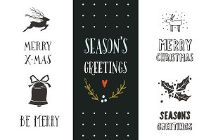 Season's greetings | X-mas lettering