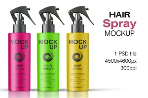 Hair Spray Bottle Mockup Vol. 1