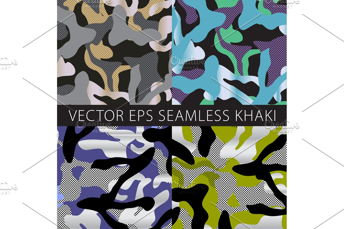 Camouflage netting. Seamless vector