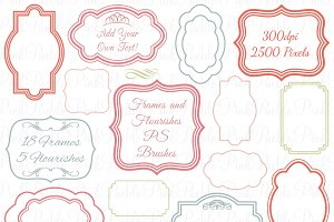 Frames & Flourishes Photoshop Brush