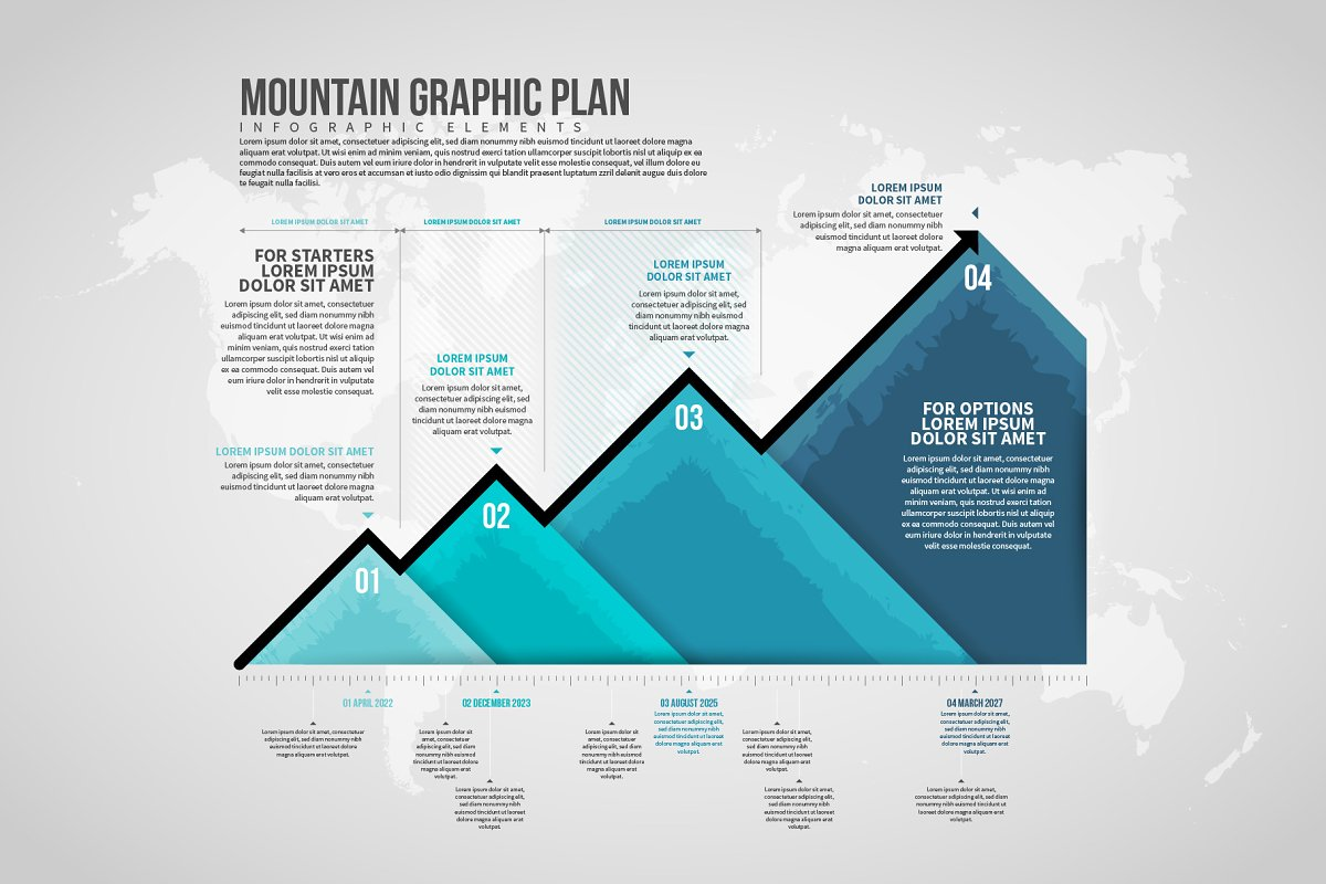 Mountain Graphic Plan Infographic