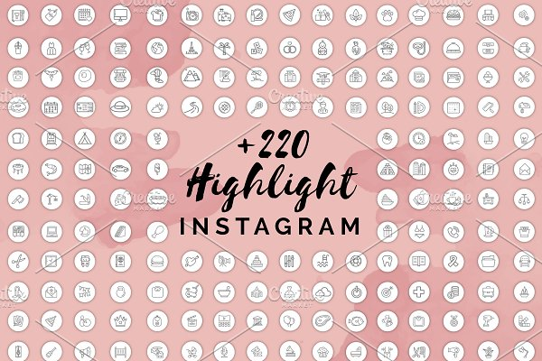 +220 Instagram Highlight Covers