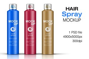 Hair Spray Bottle Mockup Vol. 2