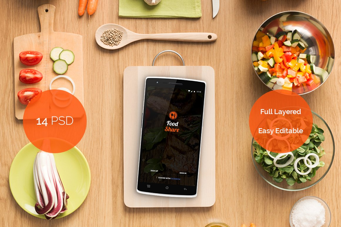 Food share food app template ui web elements creative market forumfinder Image collections