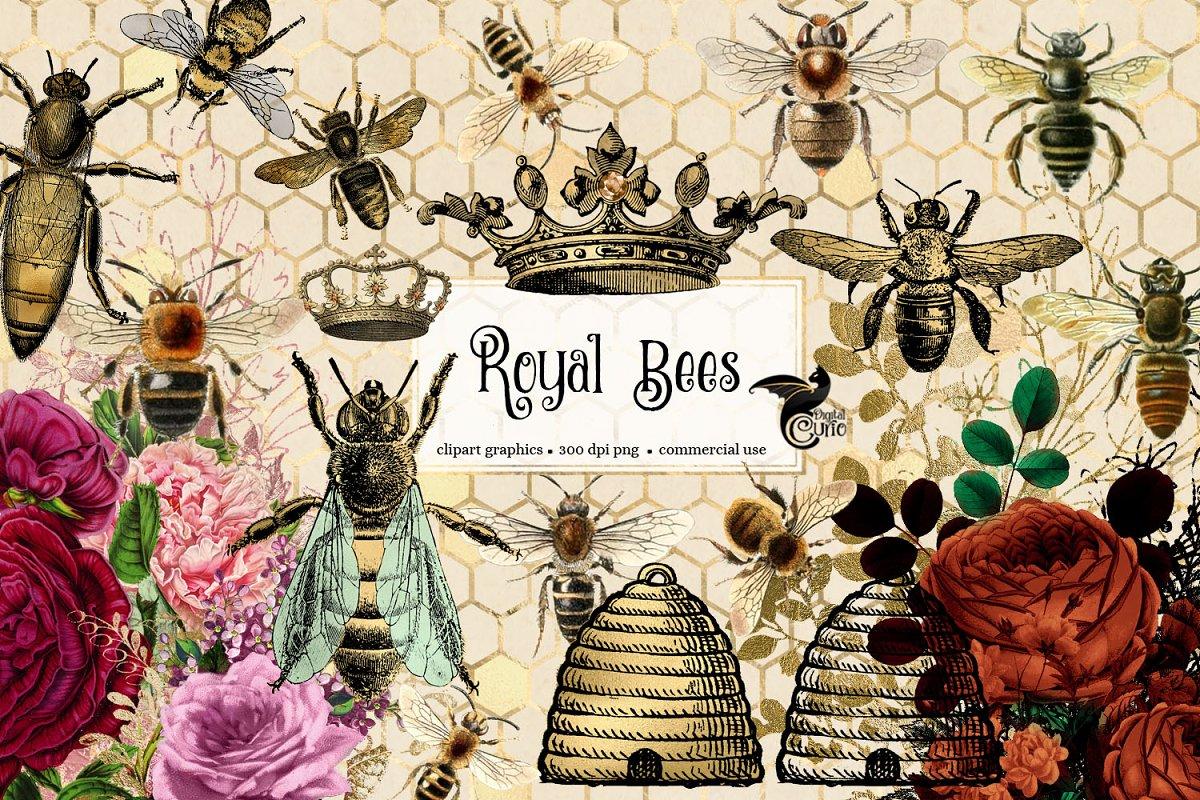 Royal Bees Clipart
