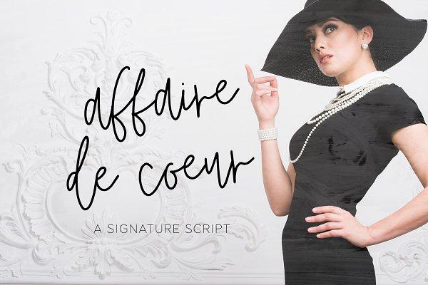 Affaire de Coeur Signature Script