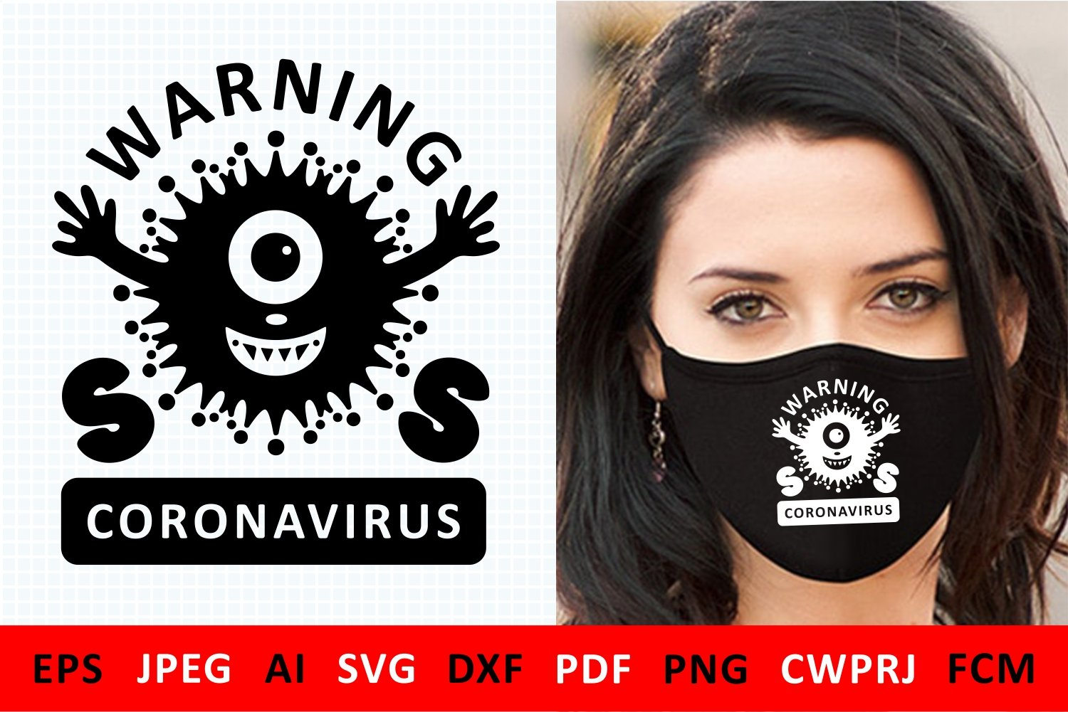 Covid 19 Coronavirus 2019 Ncov Svg Pre Designed Photoshop Graphics Creative Market