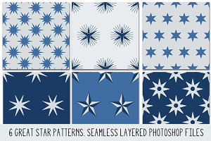 Layered PSD Seamless Star Patterns