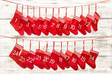 Advent calendar 1-24. Christmas