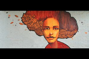Street ART Autumn Girl Artwork