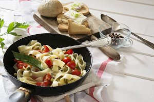 Tagliatelle Pasta with cherry tomato