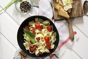 Tagliatelle Pasta with cherry tomato