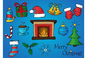 Christmas Set, vector clipart