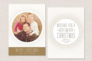 Christmas Card Template CC022
