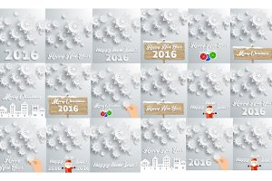 18 Happy New Year Christmas Backgrou
