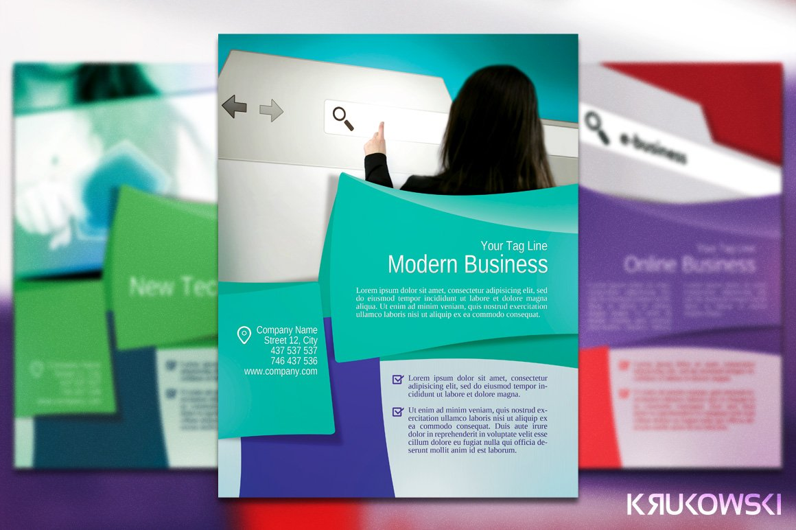 Business flyer poster flyer templates creative market flashek Image collections